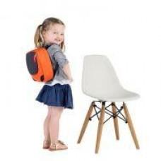 Детский стул Тауэр Вaby, пластиковый, ножки дерево бук, цвет белый