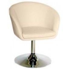 Кресло Мурат НЬЮ, экокожа, хромированное, цвет бежевый