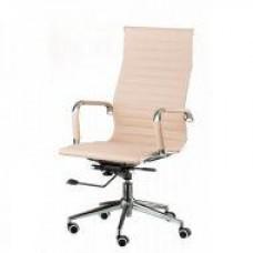 Кресло офисное Алабама НNEW, высокая спинка, механизм качания, цвет бежевый