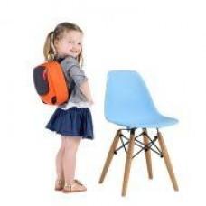 Детский стул Тауэр Вaby, пластиковый, ножки дерево бук, цвет голубой