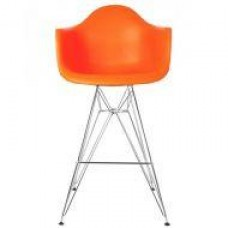 Cтул барный Тауэр Eames, хромированный, цвет оранжевый