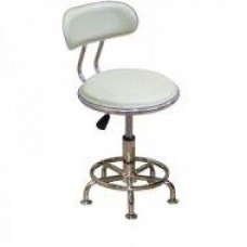 Кресло Бэйсик стационарное, кожзам, цвет белый