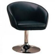 Кресло Мурат НЬЮ мягкое, хромированное, экокожа, цвет черный