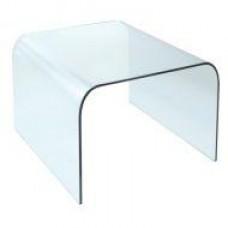Стол журнальный Вулкано М1, стекло прозрачное