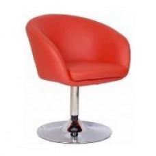 Кресло Мурат НЬЮ, мягкое, хром, цвет красный