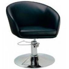 Кресло парикмахерское A Мурат P, экокожа черная