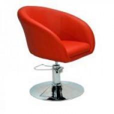 Кресло парикмахерское A Мурат P, экокожа, цвет красный