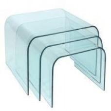 Стол журнальный Вулкано, гнутое закаленное стекло, комплект из 3 столов