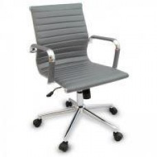 Кресло офисное Алабама MNEW, средняя спинка, хром, цвет серый