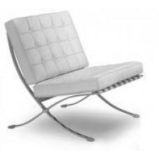 Кресло Барселона, экокожа, основание нержавеющая сталь, цвет белый