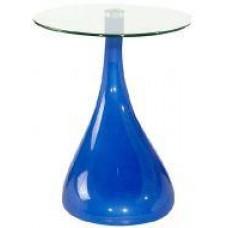 Стол журнальный Перла, цвет голубой
